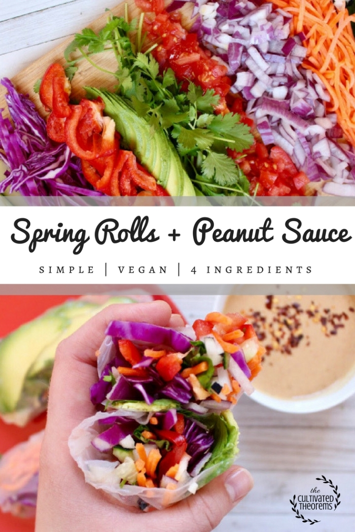 Spring Rolls + Easy Peanut Sauce